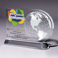 2062S (Screen Print), 2062L (Laser), 2062P (4Color Process) - Medium Globe Award